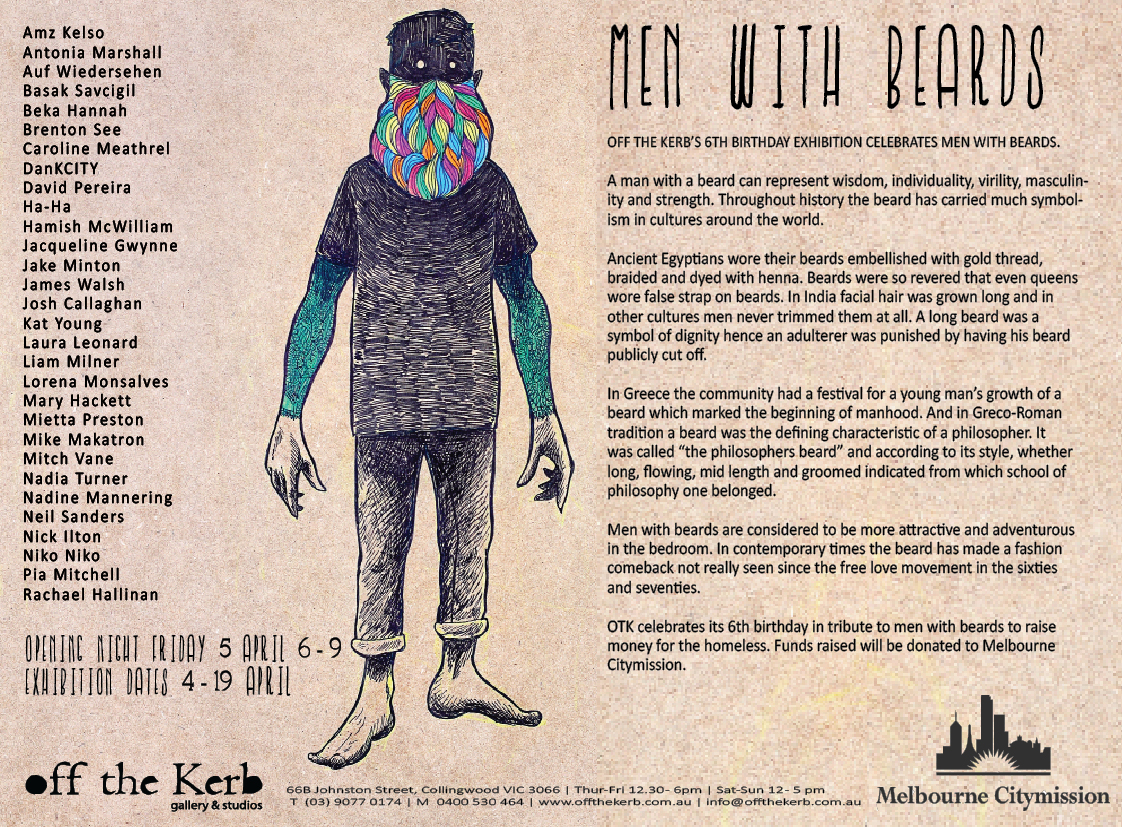 MEN WITH BEARDS EXHIBITION PRESS RELEASE